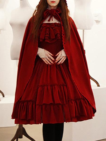 https://www.stylewe.com/product/burgundy-vintage-solid-binding-suede-hoodie-cape-79942.html