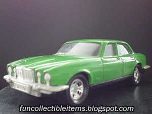 Green Jaguar XJ toy car vehicle
