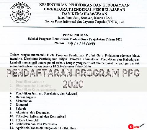 Peserta harus Tahu Bahwa jadwal Pendaftaran Program PPG Prajabatan Tahap  Panduan :  Jadwal Pendaftaran PPG Prajabatan Tahap 2 Tahun 2020