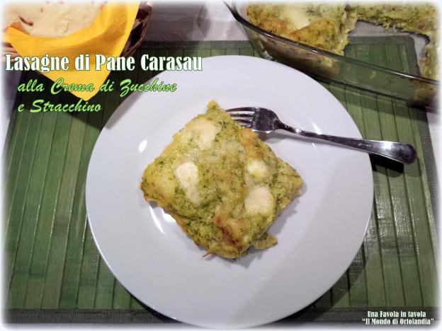 Fotografia del piatto lasagne di pane carasau alla crema di zucchine e stracchino dal blog Una favola in tavola: Il mondo di Ortolandia