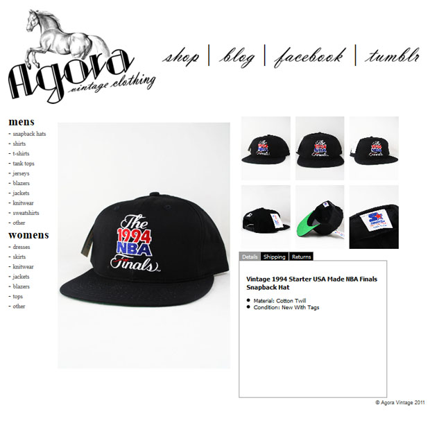 NBA Finals  Playoffs Starter Snapbacks - Agora Clothing Blog 2556d366aca