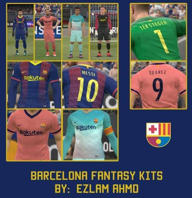 FC Barcelona Fantasy Kit PES 2017