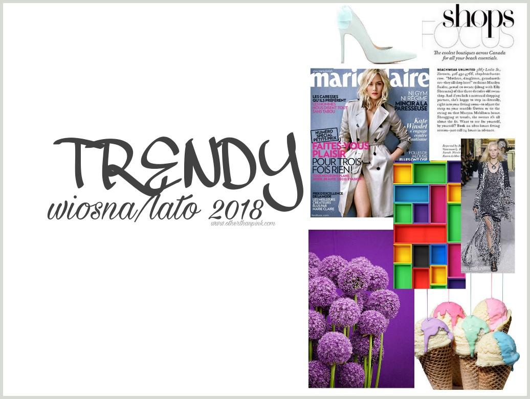 Trendy na wiosnę i lato 2018 czyli co będzie modne w nadchodzącym sezonie