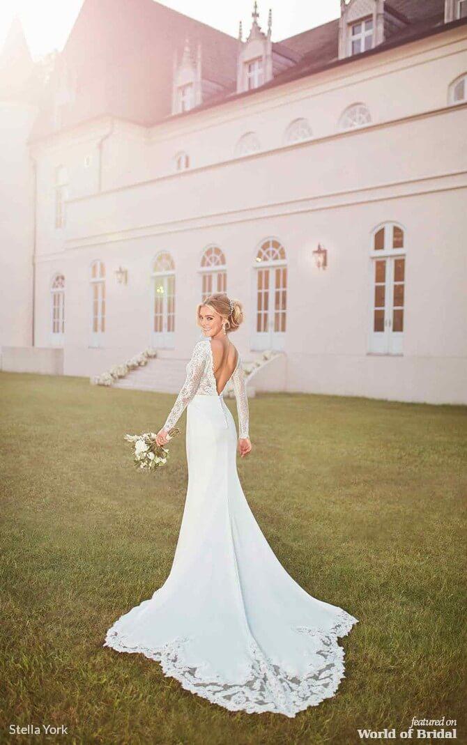 287b4da0f10c Stella York Spring 2019 Long-Sleeved Wedding Dress with Train