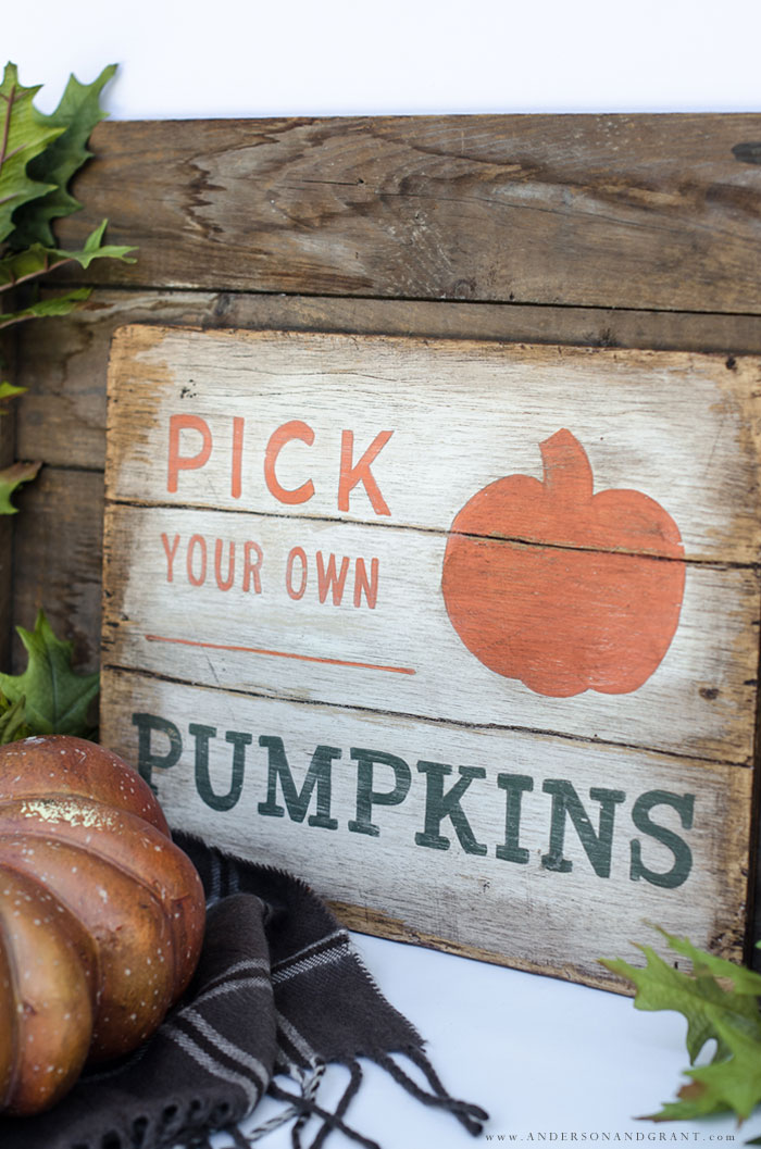 Handmade Fall Sign DIY