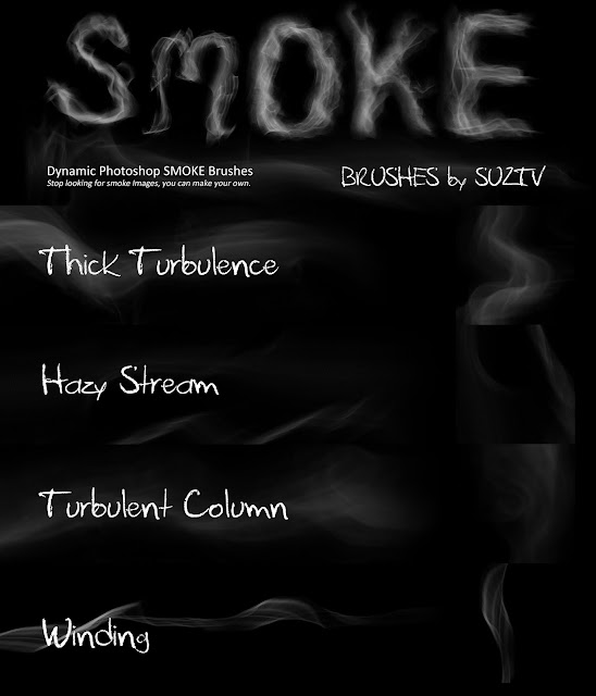 Smoke Brushes for Photoshop set 03