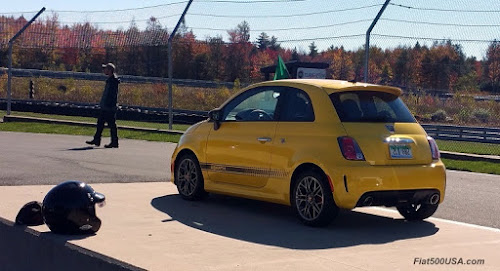 Fiat 500 Abarth at Monticello Motor Club Track