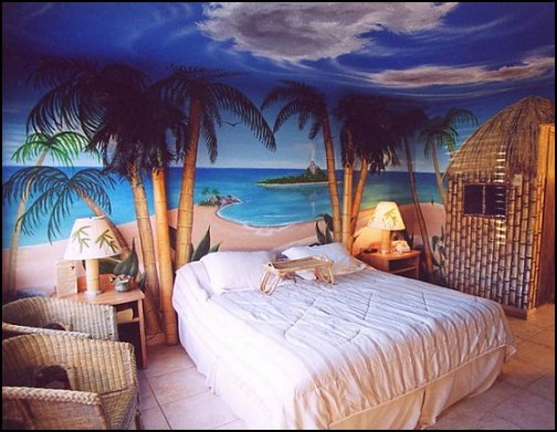 Decorating theme bedrooms maries manor tropical beach Blue beach bedroom ideas