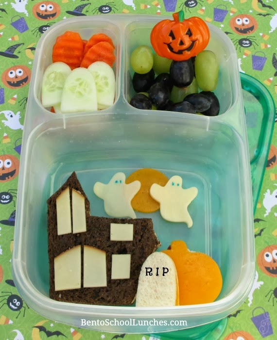 Halloween haunted house bento lunch
