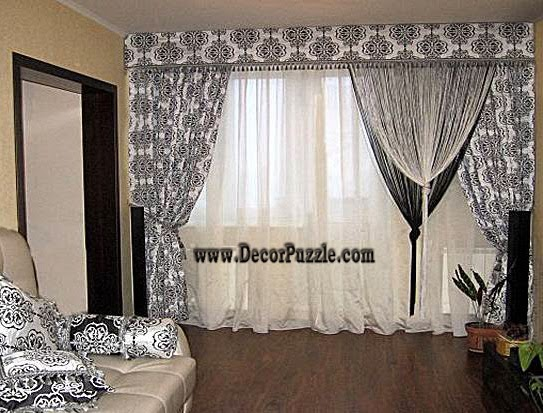 french country curtains style 2018, black and white curtains 2018