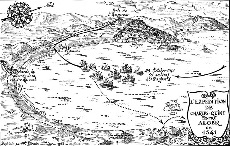 Le 20 Octobre 1541 Charles Quint Attaqua Alger Menadefense