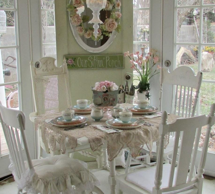 romantizm-vintage-dekorasyon-yemek masasi