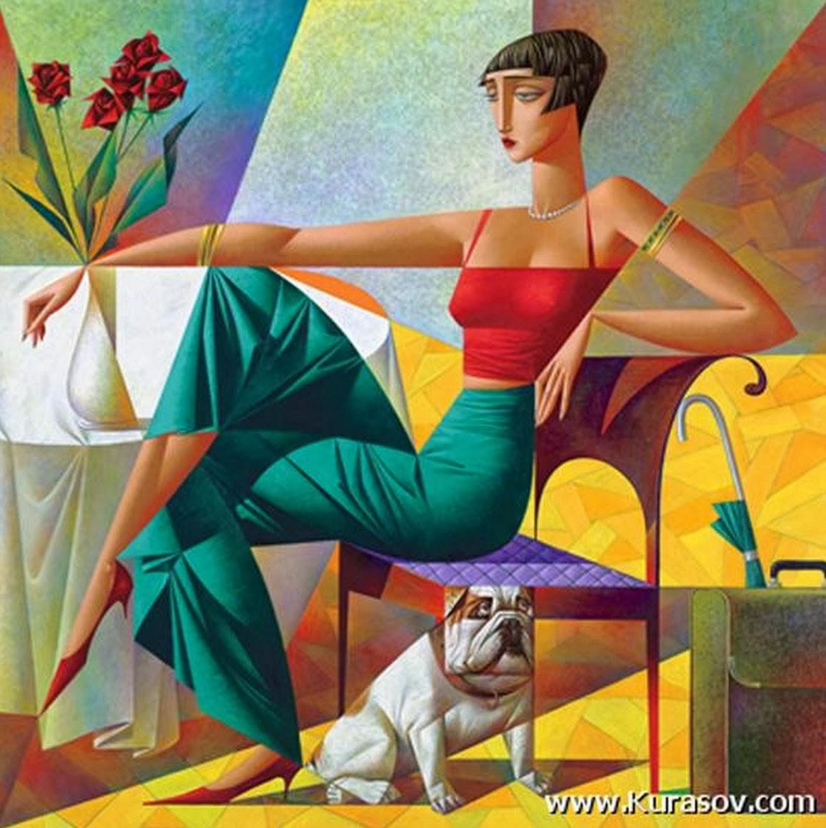 Galeria Pinturas De Arte: Cuadros Modernos Pinturas Y Dibujos : Cubismo Pinturas