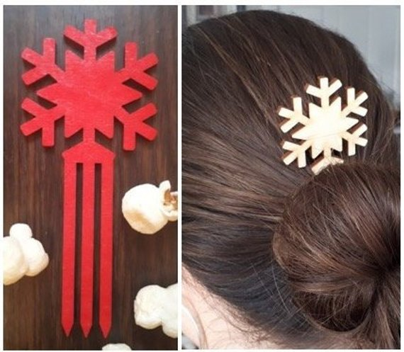 Laser Cut Hair Sticks by PonyTalesTreasures
