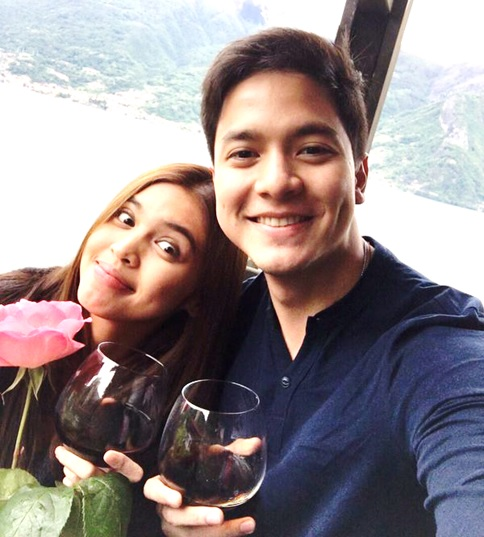 The ALDUB loveteam. Alden Richards and Maine Mendoza.