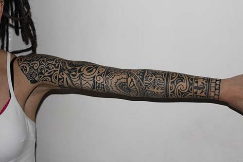 kadın tam kol maori tribal dövmeleri woman ful sleeve maori tribal tattoos