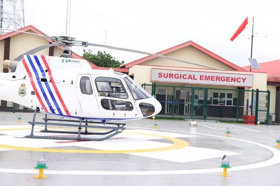 Photos: Lagos state government launch first ever Medical Helicopter emergency service In Nigeria