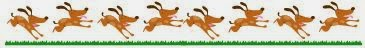 dogs running cartoon as separator