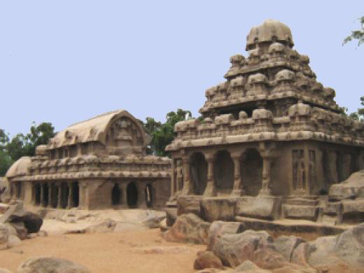 The+Rathas+in+Mahabalipuram Tamilnadu - Pueblos Dravídicos y mito de Lemuria