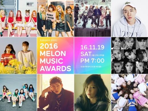 Ungkap Top 10 Artis Sementara Melon Music Awards 2016