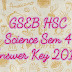 GSEB HSC Science Sem 4 Answer Key 2017 at www.gseb.org