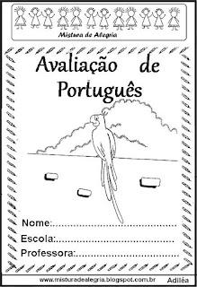 Avaliação português 1º ano de alfabetização