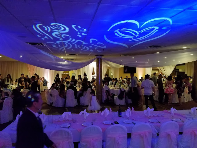 DJ Lighting for The Cocktail Hour of This Vietnamese Wedding Reception With Denver's Best DJs