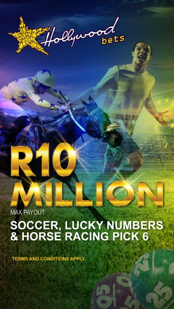 R10 Million Max Payout - Hollywoodbets - Horse Racing Pick 6, Lucky Numbers, Soccer