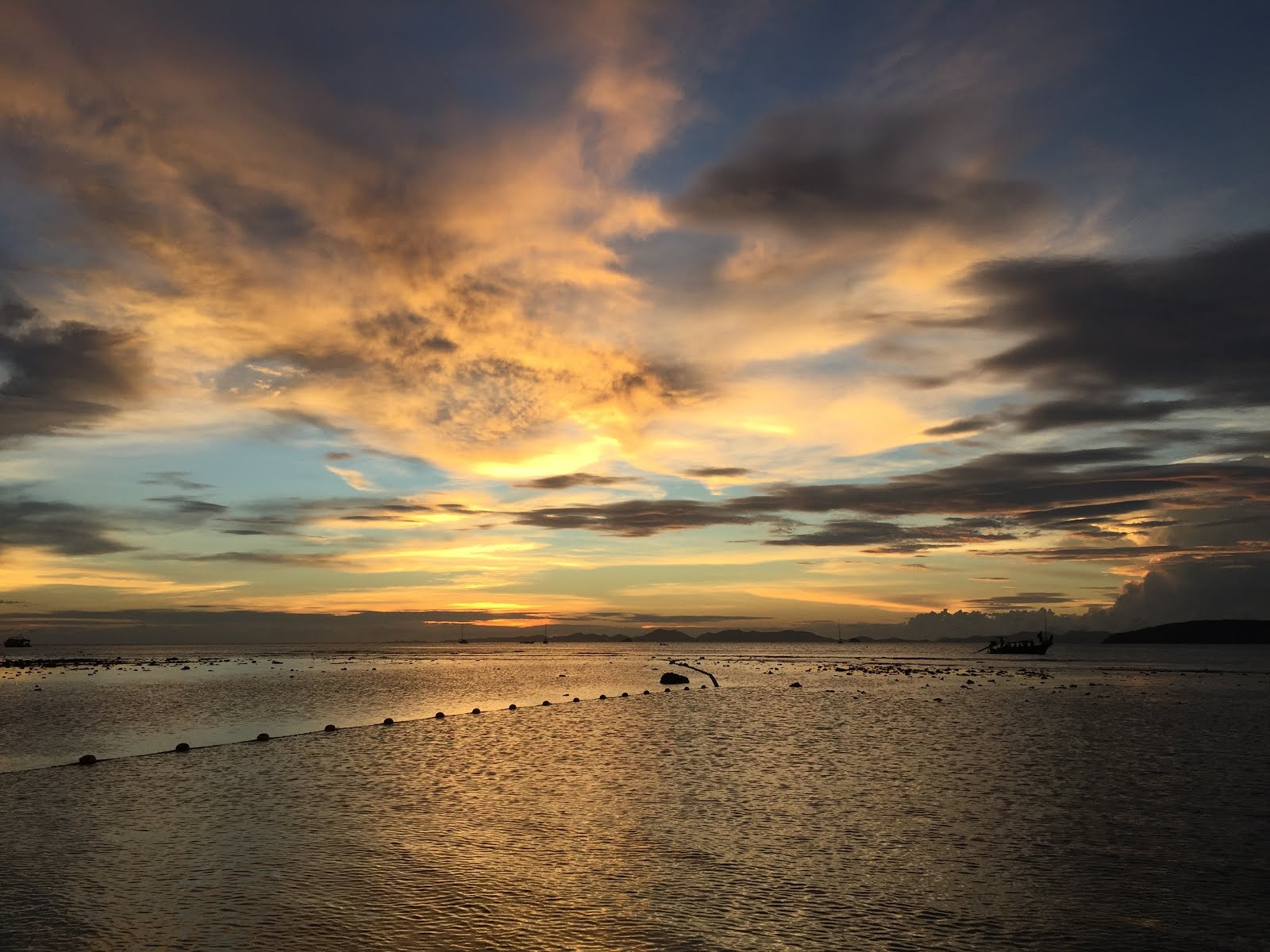 Sunset at Krabi Beach, Thailand, Asia