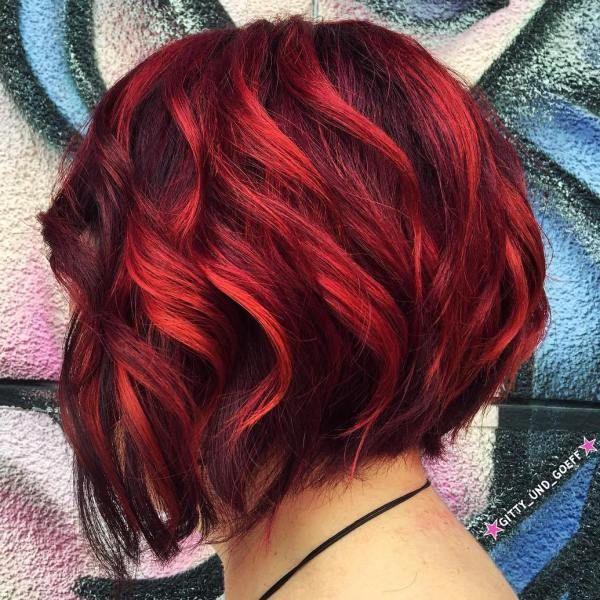 balayage red hair