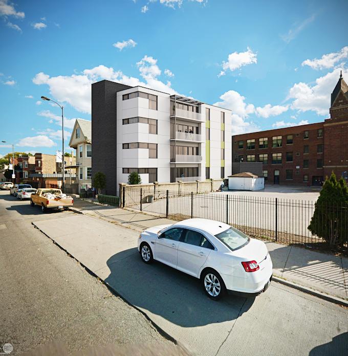 Google Street View 3D Building Photomontage - Western Avenue, Chicago, IL