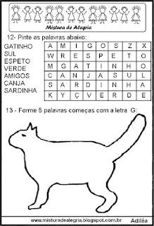 Avaliação de português 1º ano