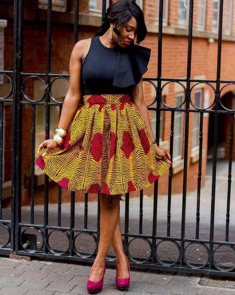 1319a1e16d51d0 Below are 10 amazing Nigerian traditional skirt and blouse styles you need  to see.