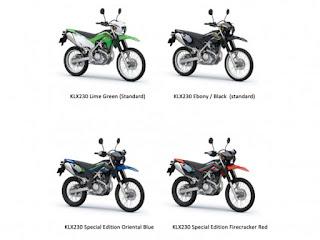 Kawasaki KLX 230 terbaru, Harga dan Spesifikasi
