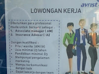 Loker Padang Associate manager & Insurance Advisor
