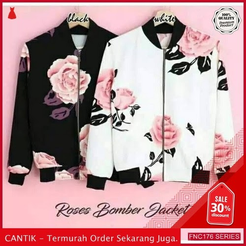 FNC176J33 Jacket Bomber Rose Sleting Wanita Babyterry 50Ribuan