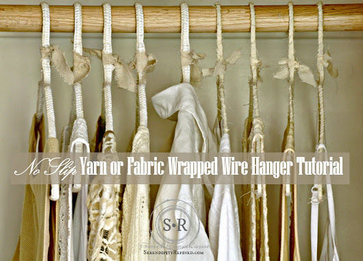 Non-Slip Yarn and Cloth Covered Hanger Tutorial and a Story About Closets