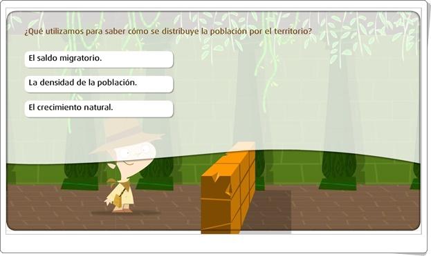 """""""La distribución de la población"""" (Juego de Ciencias Sociales de Primaria)"""