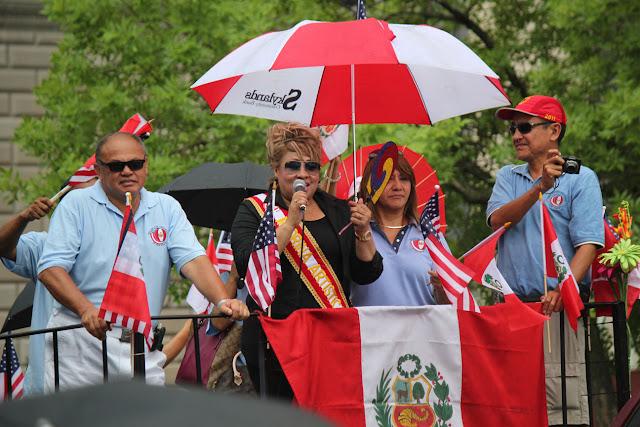 imagen de la madrina del desfile peruano en  clifton Nueva Jersey