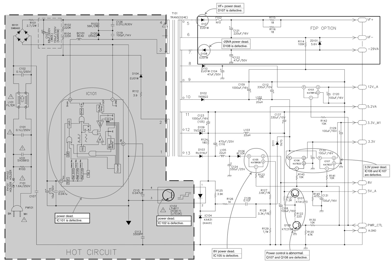 Vcr Player Schematics Great Design Of Wiring Diagram Zenith Nad Dvd Video T531b T531c T531ah Smps Complex Schematic