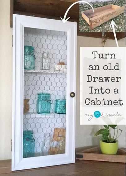 Laci bekas diubah menjadi kabinet