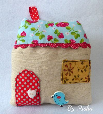 tutorial casita de tela patchwork