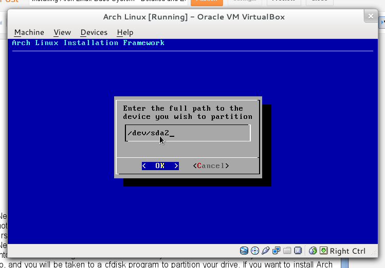 Installing: Arch Linux Installing