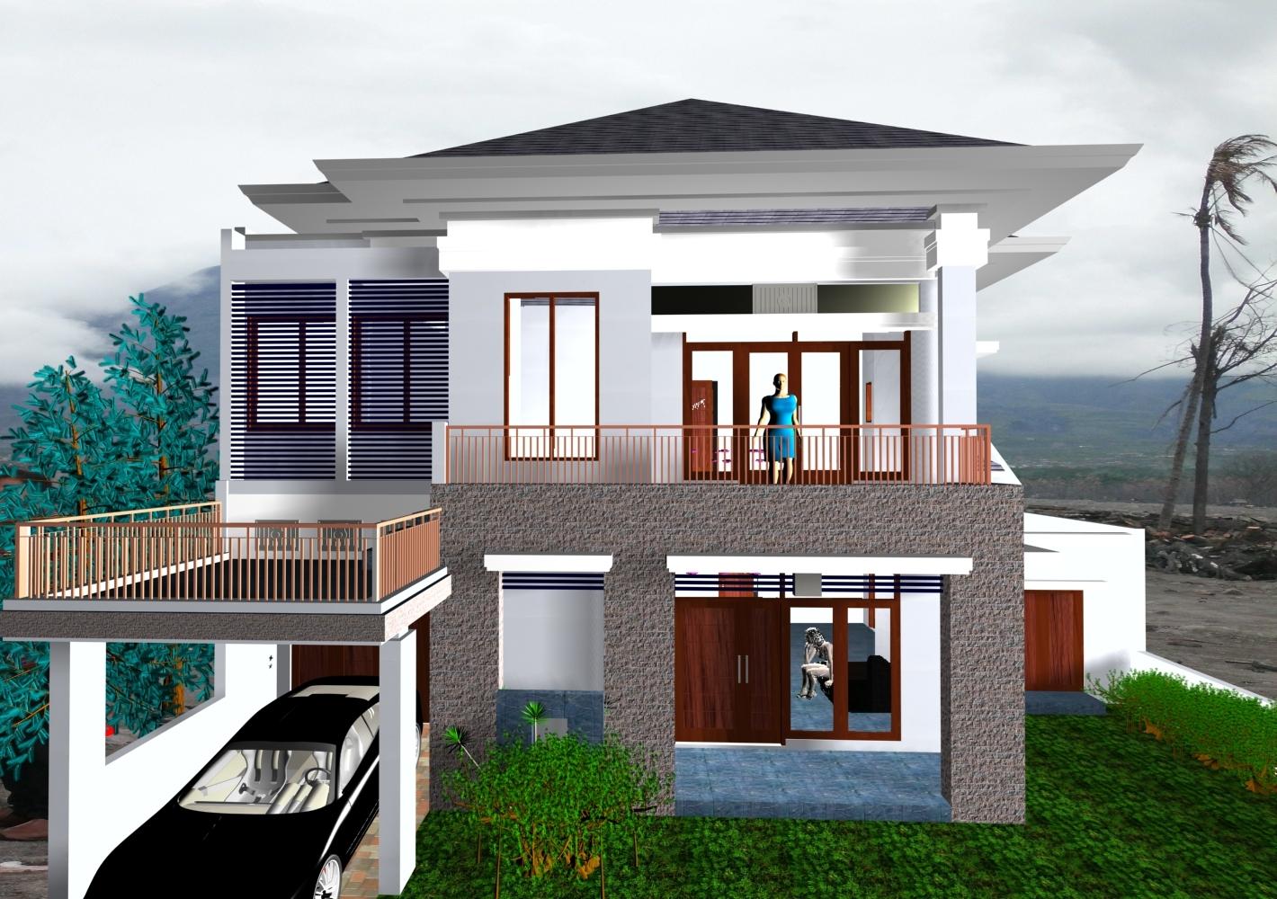 99 Gambar Contoh Model Teras Rumah Minimalis Modern 2017