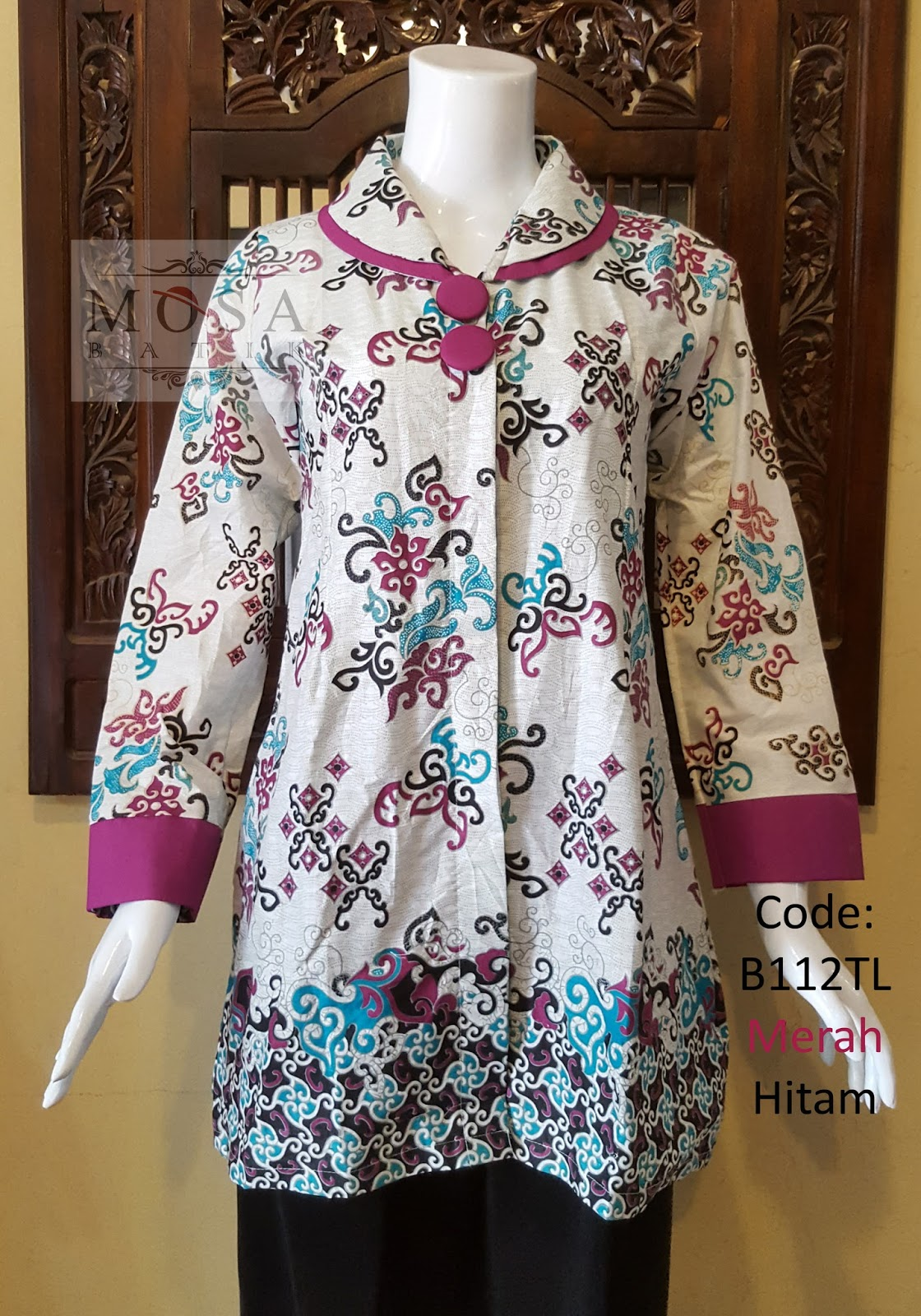 Model Baju Batik Wanita Lengan Panjang Untuk Kerja - Batik ...