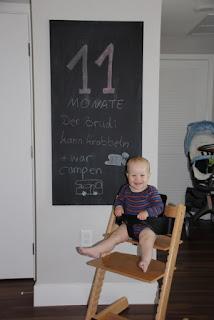 Tafelbild 11 Monate Brudi
