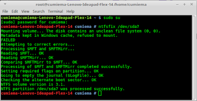 Solusi partisi tidak bisa mounting pada Linux