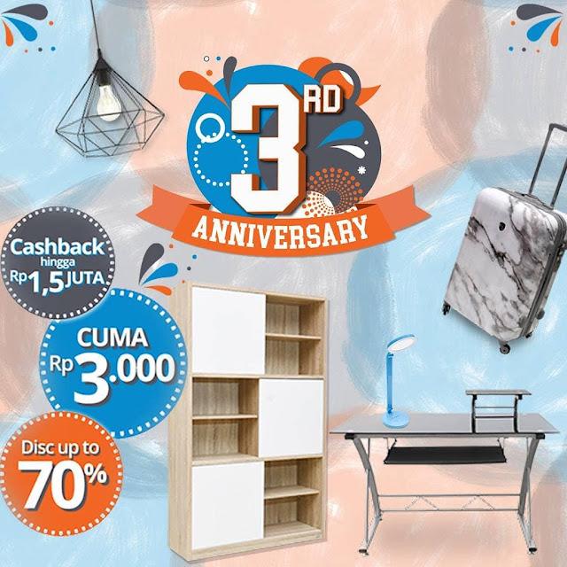 #RupaRupa - #Promo 3rd Anniversary Diskon Hingga 70% & Cashback Hingga 1,5Juta