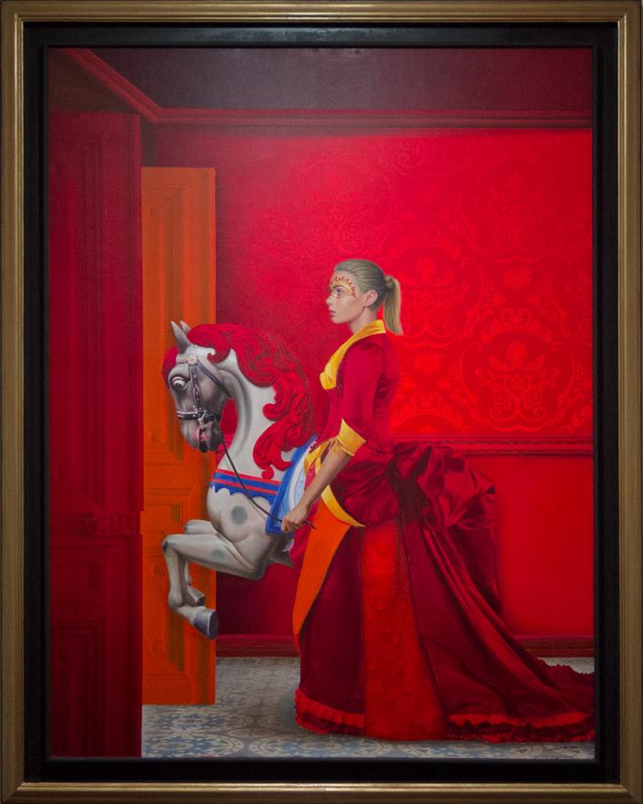 Exposición de JCarrero. Mujer y caballo