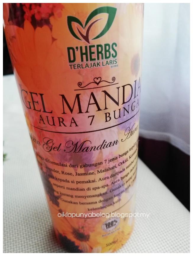 Gel Mandian Aura 7 Bunga by D'Herbs, membantu menghilangkan bau badan dan sungguh menyegarkan!